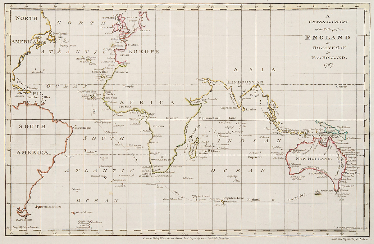 General Chart Of The Passage From England To Botany Bay In New Holland 1787