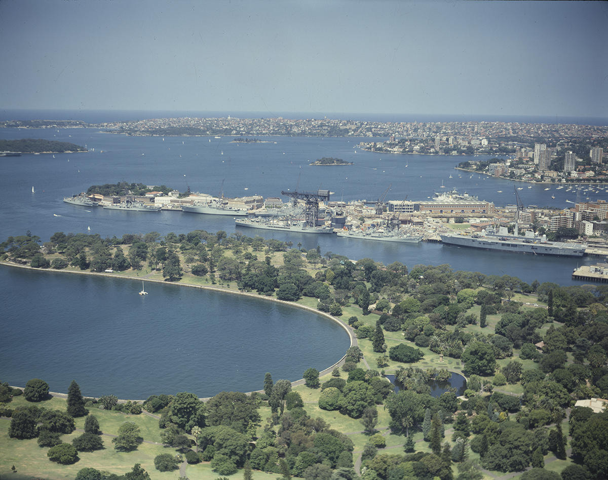 Aerial Photograph Of The Botanical Gardens Looking East Across