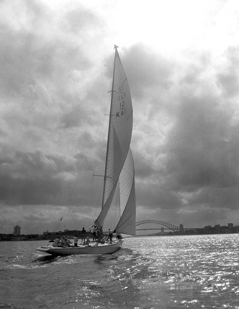 America S Cup Sailing Experience Yacht Sailing On Sydney Harbour - Gretel sailing in america s cup trials in sydney harbour 1961