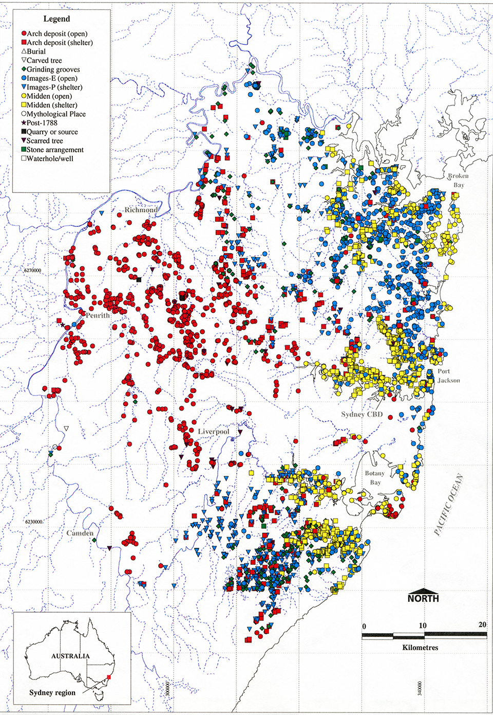 archaeological evidence of aboriginal life in sydney the