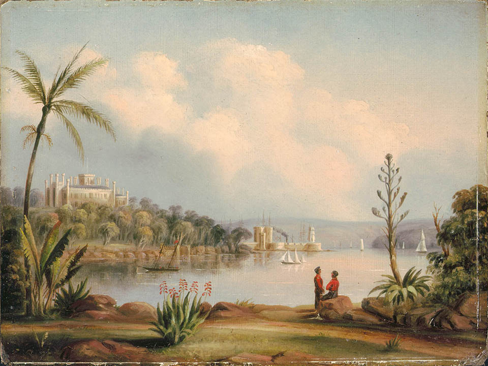 Government House And Fort Macquarie From The Botanical Gardens 1846