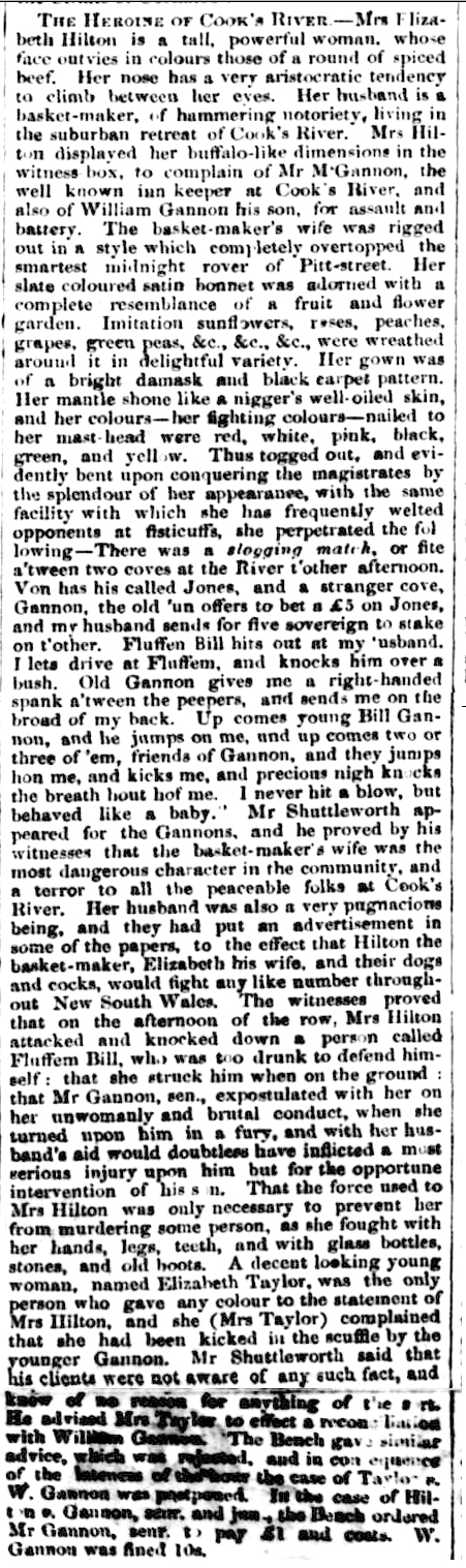 The Heroine of Cooks River' from The Police Register, Bell's