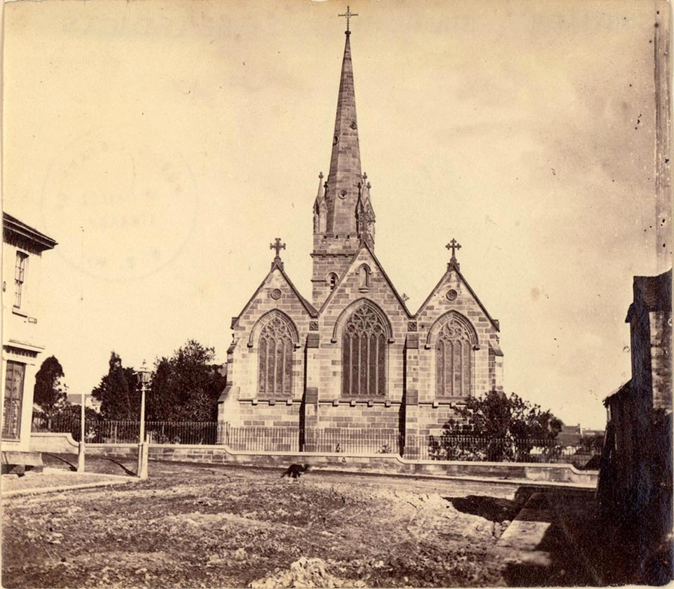 christian church architecture the dictionary of sydney st benedict s george st west c1870s